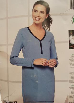Платье ночнушка для кормящих мам blue motion s m