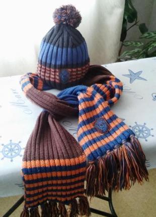 Детский комплект: шапка и шарф