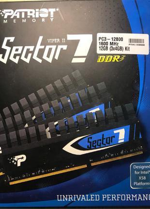 Оперативная память ОЗУ Patriot Viper 2 Sector 7 Edition 12Gb DDR3