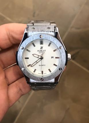 Наручные часы Hublot Metal Classic Silver-White,Наручний годинник