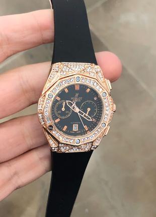 Наручные часы Hublot Big Bang Diamonds Small Gold-Black, Годинник