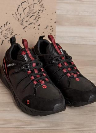 Мужские кожаные кроссовки  merrell Black(40-45р)