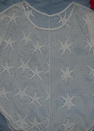 Туника пляжная сеточка сетка