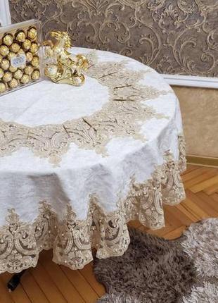 Бархатная скатерть на круглый стол 🦋