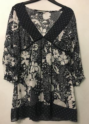 Sale/туника с цветочным принтом