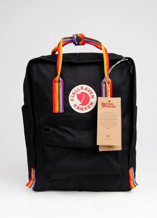 Рюкзак сумка портфель канкен classic rainbow 16л черный с раду...