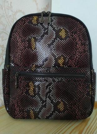 Кожаный рюкзак сумка 2021 из натуральной лазерной кожи под реп...