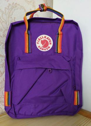 Рюкзак kanken радуга сумка канкен classic rainbow фиолетовый п...