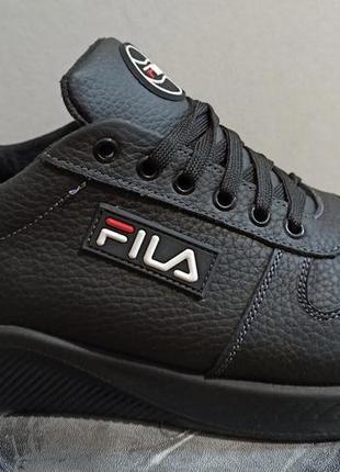 Fila! кроссовки кожаные для весны осени 46-50 размера big size...