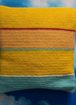 Вязаная наволочка на подушку