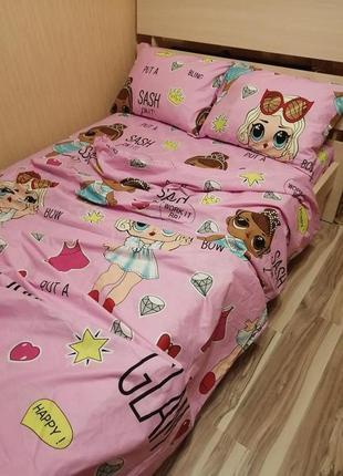 """Комплект постельного белья """"кукла лол"""""""