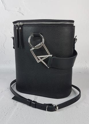 Женская кожаная сумка болеро