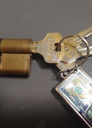 Цилиндр Apecs 30x30 ключ-ключ 60 мм желтый