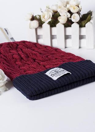 13-29 женская демисезонная шапка вязаная