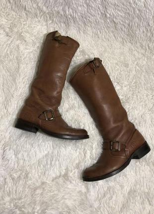 Кожаные сапоги ботинки без замка шкіряні чоботи 39