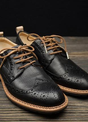 Мужские туфли броги ecco vitrus i 640354 оригинал стелька 27 см