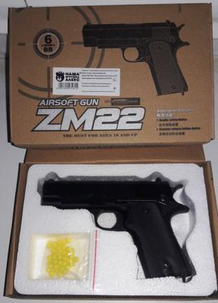 Пистолет ZM22 металл пластик