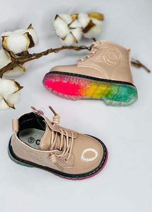 Детские модные ботинки на девочку clibee