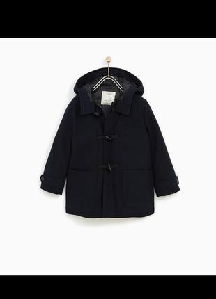 Теплая  драповая куртка zara 164