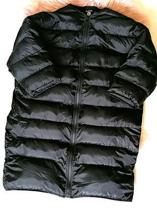 Длинная куртка пальто пуховик пуфер дутая оверсайз oversize ко...