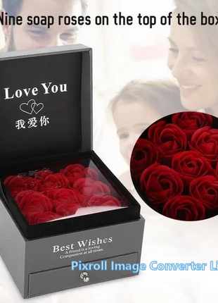 Розы из мыла с отделением для украшений подарок на 8 Марта