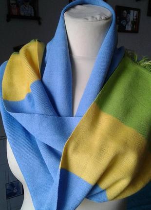 Хлопковый яркий шарф-стильно спортивно модно