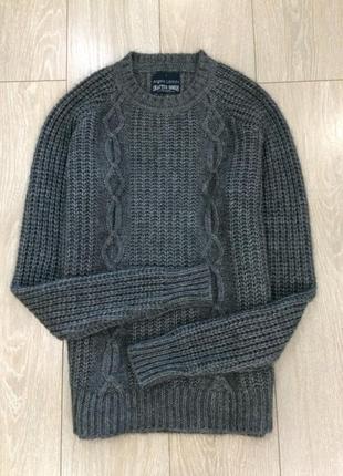 Свитер крупной вязки с шерстью альпакой angelo litrico