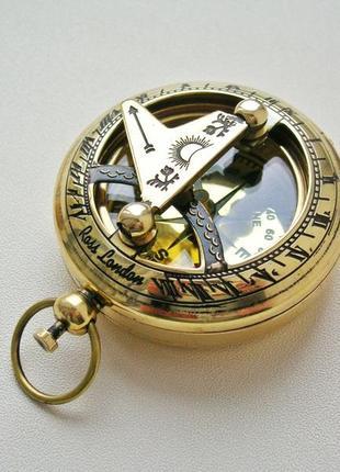Карманный компас с солнечными часами Ross London. Новый