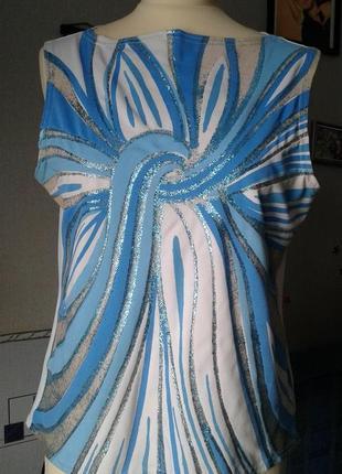 Блуза -топ стрейч-ярко модно нарядно