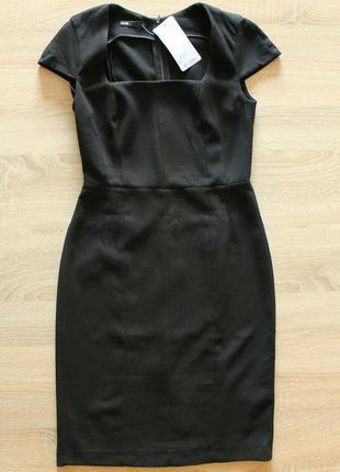 Черное платье миди oodji