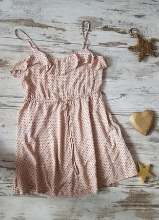 Легкое платье сарафан в горошек