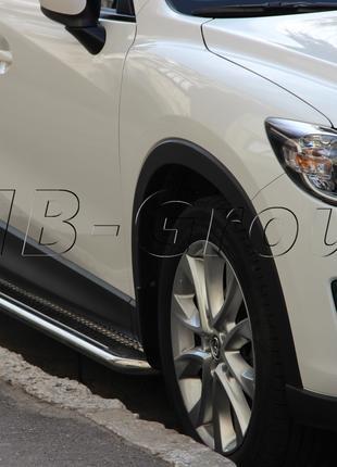 Пороги боковые труба с листом Dacia Logan MCV (04-13) D42
