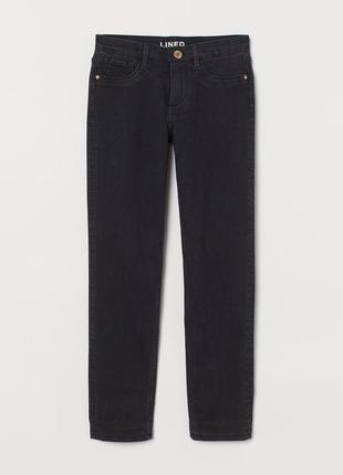 Утепленные, на подкладке джинсы скинни для девочки от h&m