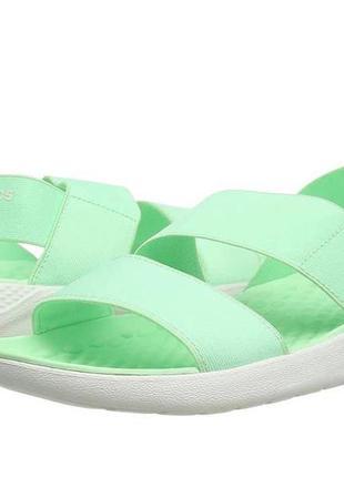 Crocs literide stretch сандали, босоножки оригинал мятного цвета