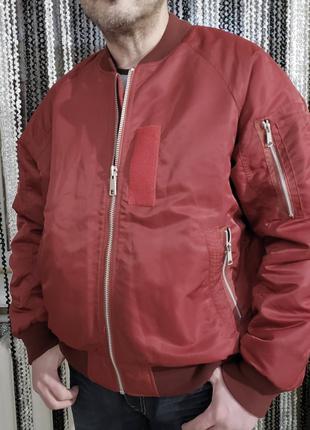 Бомбер Vailent PURE, куртка красная мужская, унисекс оверсайз р.L