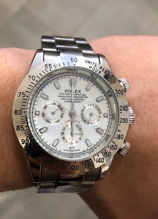 Наручные часы Rolex Daytona Automatic Silver-White, Годинник