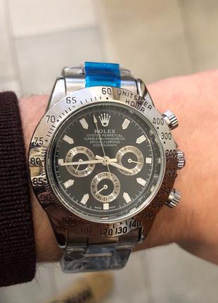 Наручные часы Rolex Daytona Automatic Silver-Black, Годинник