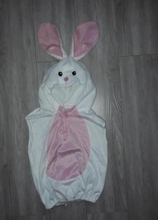 Карнавальный костюм-жилетка зайки, зайчик, зайчиха
