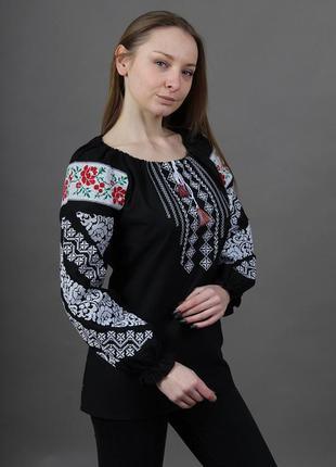 Надзвичайно модна вишиванка на 100% бавовні (домотканне полотно)