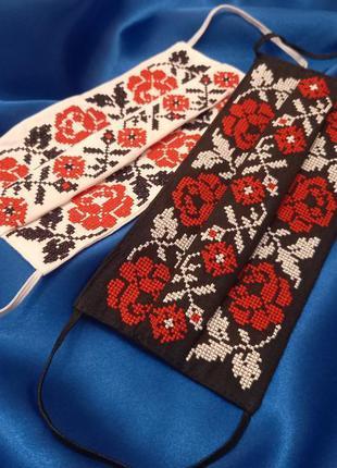Ко дню святого валентина. комплект из 2 защитних масок