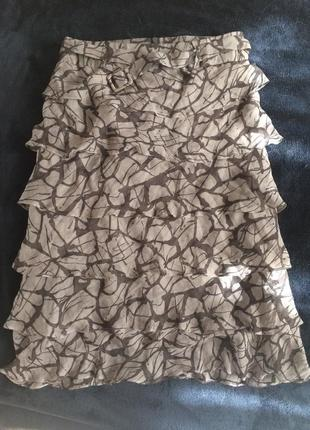 Hugo boss юбка 100% шёлк
