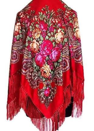 Українська національна хустка, большой павлопосадский платок, ...