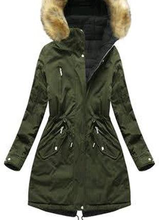 Зимняя курточка,парка двухстороння,пальто