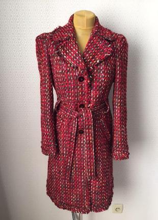 Яркое пальто из буклированной ткани от superstar, размер евр 4...