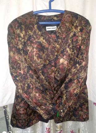 Піджак gerry weber з квітковим принтом 50-52 р