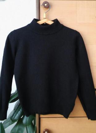 Теплый свитер с высокой стойкой, шерсть мерино, идеально для ш...