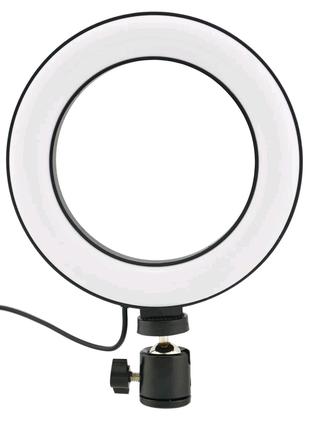 Кольцевая LED лампа 16 см с пультом, 3 режима свечения Новые!!!