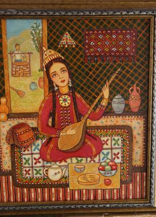 Картина Марал Хожагулаева (Ашхабад) Туркменская красавица 2008