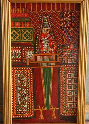 Картина Сулгун Хожагулаеваа (Ашхабад) Создание ковров, 2004