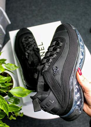 Люкс качество кроссовки демисезонные Chanel Sneakers Crystal